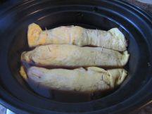 Steaming the Egg Pork roll