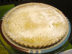 A favourite with my sister-in-law, tangy lemon tart in a shortbread crust. I love the buttery taste of the crust contrasted with the tart, very lemony filling.