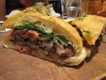 "Sliced & Diced steak ""Pillow"" Panini"