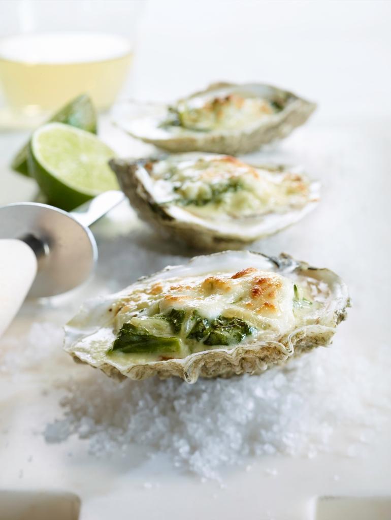 Mozzarellissima Sambuca Oysters au Gratin