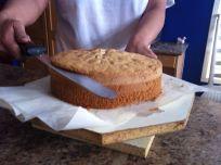 Trimming Sugar crust.