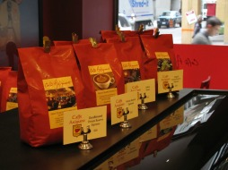 Coffee selection counter