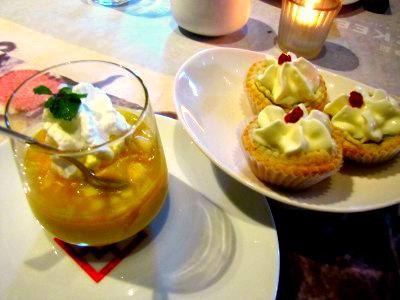 mango and tarts